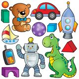 Collection with toys theme 2 stock illustration