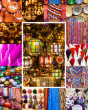 Collection of traditional crafts of Marrakesh Royalty Free Stock Image