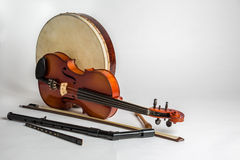 A collection of traditional Irish musical instruments Stock Image
