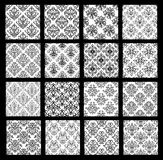 Collection of traditional oriental patterns with floral elements Royalty Free Stock Photography