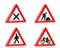 Collection of traffic signs Royalty Free Stock Photography