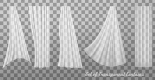 Collection of transparent curtains. Royalty Free Stock Images