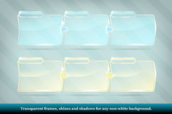 Collection of transparent glass frames Stock Image