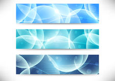 Collection of transparent headers Stock Photography