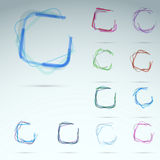 Collection of transparent web elements Stock Image
