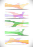 Collection of transparent web headers Stock Photo
