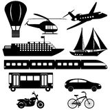 Collection of transport icons Stock Photography