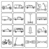 Collection of transport icons Royalty Free Stock Photography
