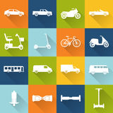 Collection of transport icons silhouettes Stock Images