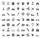 Transport icons6. Collection transport of icons. A vector illustration Royalty Free Stock Photo