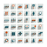 Collection of transport sign. Royalty Free Stock Photography