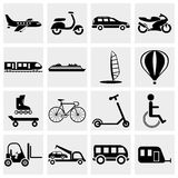 Ttransportation icon set Royalty Free Stock Photography