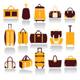 Collection of Travel bags Stock Image