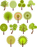 Collection of tree clip-art Royalty Free Stock Image
