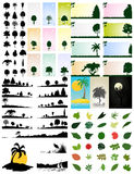 Collection of trees Stock Photography