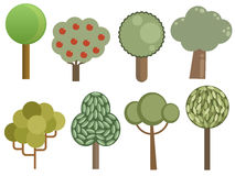 Collection of trees stock illustration