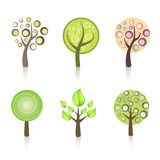 Collection of trees. Collection of Different Colorful Trees Stock Photos