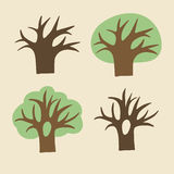 Collection of trees vector illustration