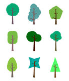 The collection of trees for design Stock Images