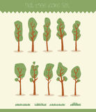 Collection of trees Royalty Free Stock Image