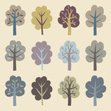Collection of trees. vector illustration