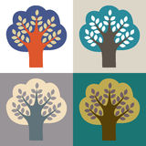 Collection of trees. stock illustration