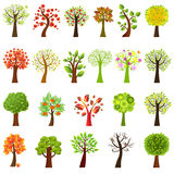 Collection Of Trees. Vector Stock Photo