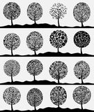 Collection of trees3 Stock Photography