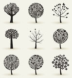 Collection of trees4 Stock Image