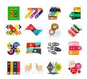 Collection of trendy colorful infographic diagram templates Royalty Free Stock Images
