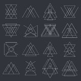 Collection of trendy geometric shapes. Geometric icons Royalty Free Stock Image