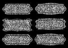 Collection of trendy gold sparkley shapes. Set sunburst design elements. Best for sale sticker, price label, sign. Collection of trendy gold sparkley shapes Royalty Free Stock Photos