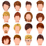 Collection of Trendy Mordern Male Hairstyle. Vector design of collection of trendy mordern male hairstyle Stock Images