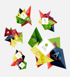 Collection of triangle infographic layouts Royalty Free Stock Image