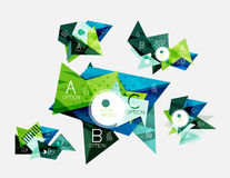 Collection of triangle infographic layouts Royalty Free Stock Photos
