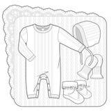Collection tricotée par blanc Image libre de droits