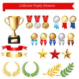 Collection Trophy Elements. Vector Royalty Free Stock Image