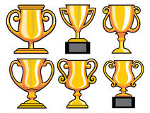 Collection of trophy  Stock Image