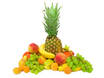 Collection of tropical fruits Stock Image
