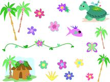 Collection of the Tropics Stock Images