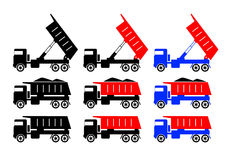 Collection of trucks Royalty Free Stock Images