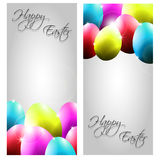 Vector Collection of Two Easter Cards with Colorfu Stock Images