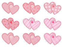 Collection of valentines. Collection of two joined valentines Royalty Free Stock Photos