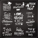 Collection Of Typographic Halloween Design Royalty Free Stock Images