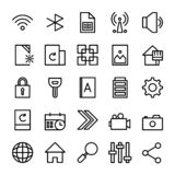 Collection of UI Essentials for mobile phone or web stock illustration