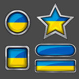Collection of ukraine flag icons Stock Photo