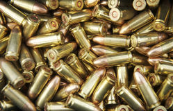 A collection of unfired bullets Stock Photos