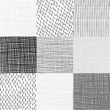 Collection unique geometric patterns Stock Image