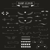 Collection of unique hand drawn vector borders. Stock Images