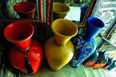 Collection of Urns stock image